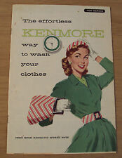 """Vtg 1950's Owner's Manual~""""KENMORE AUTOMATIC WASHER""""~Great Graphics~700 Series~"""