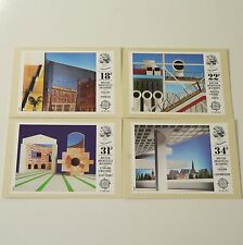 UK ROYAL MAIL POSTCARD / STAMP SET OF 4 - ARCHITECTURE / ARCHITECTS - 1987 vg