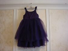 NWT JANIE AND JACK VIOLET ROYAL GIRLS SILK TULLE DRESS 12 PURPLE
