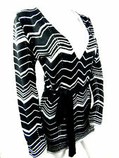 Black Silver Belted Tunic Jumper Dress Small Goth Rock Metal Biker Wicca Grunge