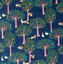 [Precut] 48x55cm Forest Midnight Blue Japanese Cotton Fabric - PC844