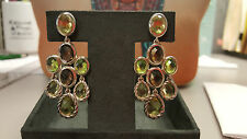 David Yurman Silver Chandelier Earrings with Lemon Citrine, Smoky Quartz - Recei