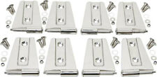 Door Hinge Set 8 pc 4 Door Polished Stainless Jeep Wrangler JK 2007-2016 30576