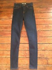 Topshop Moto Skinny Jeans Jamie Dark Blue Size 6 W25 To Fit L30 Ld23 Defected