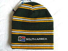 SOUTH AFRICA RUGBY BEANIE HAT Tags OSFA Unisex RWC Adult Tuque Toque Bottle