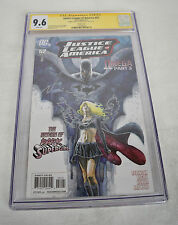 Justice League Of America 52 B 2011 CGC SS Signed David Mack Sketch Supergirl