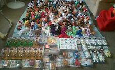 TY Beanie Babies bulk lot of  235 beanies retired, rares, cards, poster and more