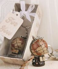 World Globe Key Chain Key Ring With Gift Box and Ribbon NEW