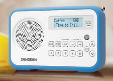 Sangean DPR-67 Blue DAB+ FM-RDS Digital Clock Radio Receiver - LCD display
