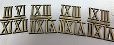 Quarter hour clock numbers gold color Roman numerals Lot of 4 sets