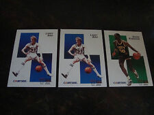 1992 Courtside Basketball---Lot Of 3---Larry Bird (2), David Robinson