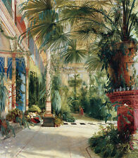 The Interior of the Palm House Carl Blechen Palmen Wintergarten Weg B A3 00954