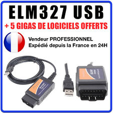 ELM327 v1.5 USB Interface de diagnostic multimarque OBDII Scanner PC Windows