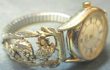 Ladies Caravelle by Bulova Watch Sterling Silver Shoulders W Roman Hour & Marks