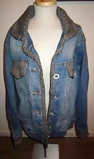 Vintage Baby Phat Distressed Blue Jeans & Tweed Unique Jean Jacket Plus size 2XL