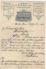 1893 DUBLIN TEXAS A. W. Risien OPERA HOUSE Theatre GREAT GALVESTON FLOOD in 1867