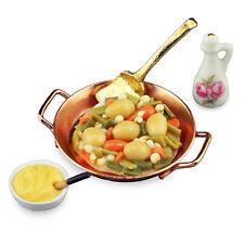 Reutter Porzellan Gemüse Suppe / Vegetable Pan Puppenstube 1:12 Art. 1.467/8