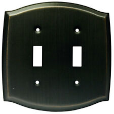 Oil Rubbed Bronze Double Toggle Switch Wall Plate