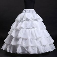 Bridal New 4 Hoop Petticoat Ruffle Crinoline Wedding Underskirt Gown Dress Skirt