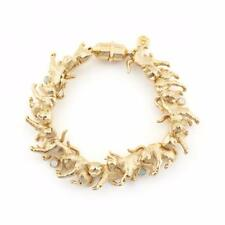 Bill Skinner Yellow 18ct Gold Plated Crystal Statement  Kitten Cat Bracelet