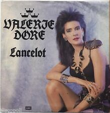 "VALERIE DORE - Lancelot - VINYL 7"" 45 ITALY 1986 NEAR MINT COVER VG+ CONDITION"