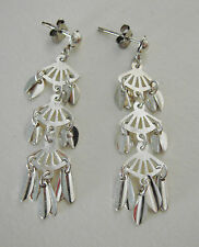 MODERNIST - VINTAGE  - ORECCHINI IN METALLO ARGENTATO - EARRINGS SILVER METAL