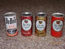 Lot of 4 - Du Bois Pull Tab Beer Cans - Du Bois, PA - EMPTY