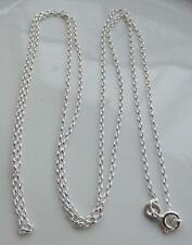 "STERLING SILVER BELCHER STYLE CHAIN 76cm / 30"" MADE IN UK by WJS BIRMINGHAM NEW"