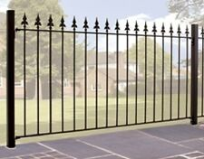 WROUGHT IRON METAL FENCING PANEL Roman 6ft (1830mm)