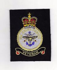 HM ARMED FORCES VETERAN EMBROIDERED BLAZER BADGE - NEW - SIZE 80mm x 100mm NEW