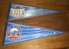 NEW YORK METS SHEA STADIUM & NEW YORK YANKEES STADIUM PENNANTS - NEW