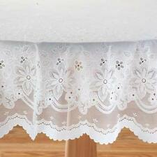 """Vinyl Lace Table Cover Tablecloth 70"""" Round Dining Kitchen Tabletop NEW 2B"""