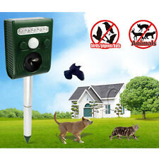 Solar Power Ultrasonic Pest Repeller Garden Bat Mouse Cat Dog Insect Animal New
