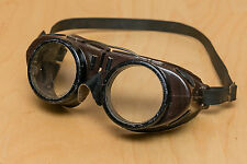 Vintage Willson Riding Safety Protect Costume Cosplay Vented Steampunk Goggles