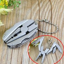 Pocket Multifunction Tools Kit Mini Foldaway Keychain Pliers Knife Screwdriver