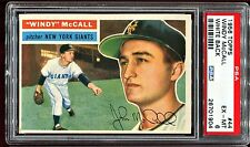 1956 Topps Baseball #44 WINDY McCALL New York Giants White Back PSA 6 EX-MT 2