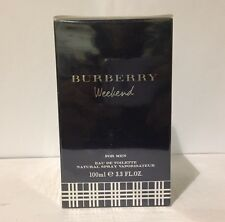 Burberry Weekend By Burberry 3.3 3.4 Oz Eau de Toilette Spray NIB Sealed For Men