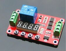 12V DC+/DC-/CH1 Self-lock Relay PLC Cycle Timer Module Delay Time Switch