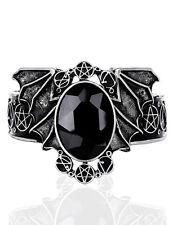 Bracelet ailes de chauve souris argenté avec pierre violette et pen Restyle