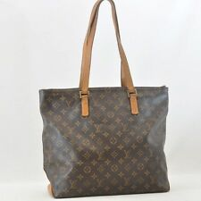 Authentic  Louis Vuitton Monogram Cabas Mezzo Tote Bag M51151 #S4591