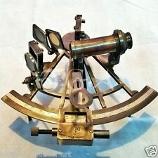 "Antique Vintage Heavy Brass Nautical Sextant 8""  Henery Barrow & CO. London"