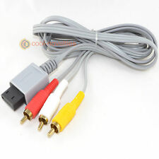 Nintendo Wii Av Rca Oro Plateado De Audio/video Tv Cable 1.8 m-Nuevo Uk
