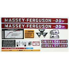 Massey-Ferguson MF 35 MF35 Tractor Complete Decal Set, incl. Diesel Deluxe