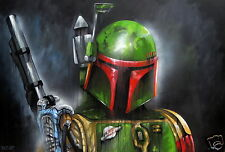A3 SIZE CANVAS PRINT star wars ART PAINTING ANDY BAKER