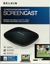 Belkin ScreenCast 1080p HD TV Adapter for Intel Wireless Display WiDi 2.0 win 7