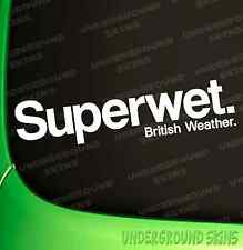 Superwet Car Sticker Funny VW DUB Corsa Bumper Window Decal