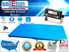"""60"""" x 60"""" (5'x5') Floor Scale 10,000 x 1 lb Capacity with a Ramp   Medal indca."""