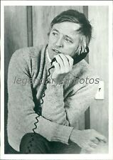 1978 Editor William Buckley on the Phone Original News Service Photo
