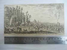 MARCH ON PARIS    1600S engraving  provenance Seeger collection to research