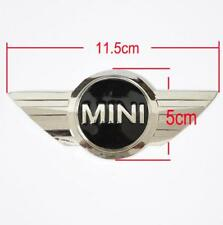 Mini Cooper Badge Logo Front bonnet Hood metal sticker Rear Trunk Emblem Wings
